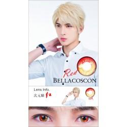 Pupilentes Color Coscon Red...