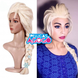 Peluca Princesa Elsa